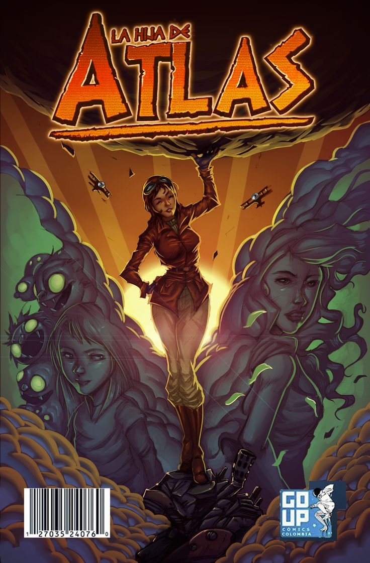 Portada del # 1 de La Hija de Atlas, por Gekishi.