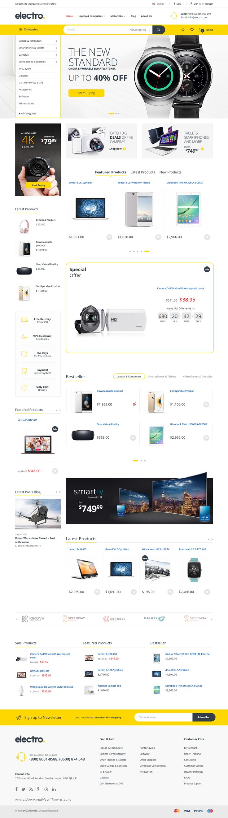 Electro is an modern and trendy #Magento 1 & 2 theme for multipurpose #tech #store eCommerce website with 3 stunning homepage layouts download now➯ https://themeforest.net/item/electro-responsive-magento-1-2-theme/17042067?ref=Datasata
