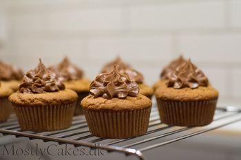 Peanut Butter Cupcakes w/Nutella Buttercream.