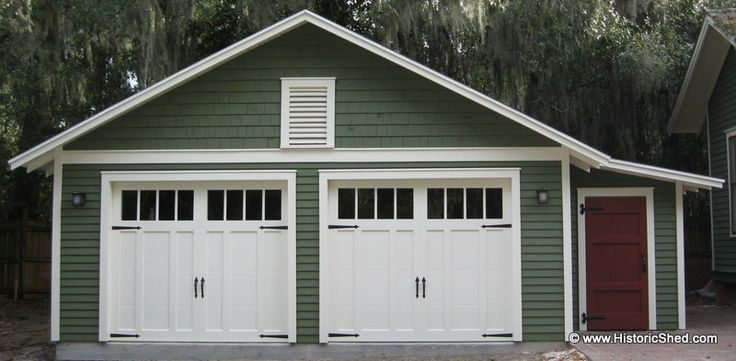 114 best detached garages images on pinterest carriage for Separate garage cost