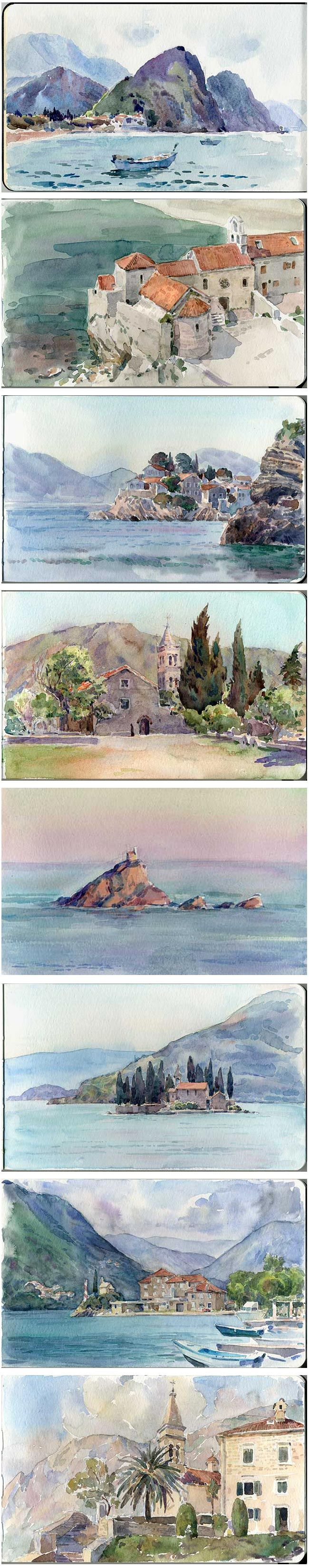 plein air watercolor sketches by ~art-bat on deviantART