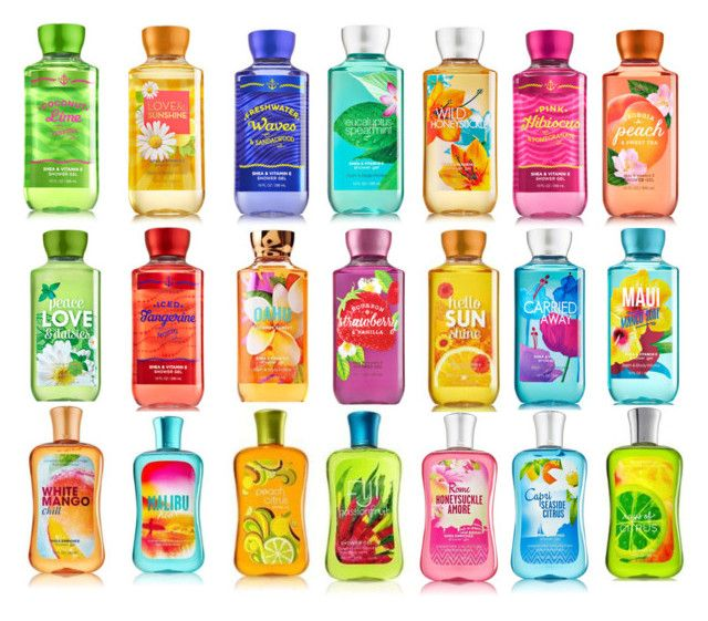 Bath and Body Works Shower Gels in Winter Candy Apple, Twisted Peppermint, Vanilla Bean Noel