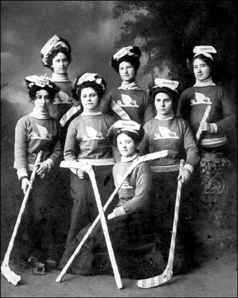 Amherst Ramblers, Nova Scotia women's hockey team- 1899
