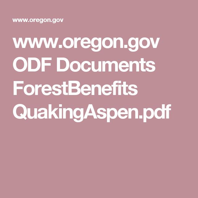 www.oregon.gov ODF Documents ForestBenefits QuakingAspen.pdf