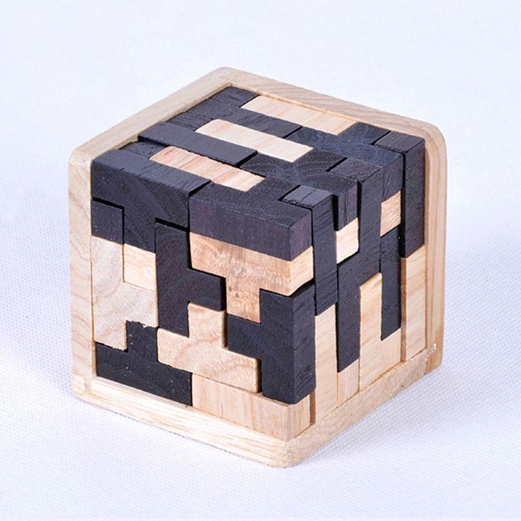 Тетрис Формы Деревянные Головоломки образовательные Игрушки 3D Логические Т-Образной Формы Головоломки Игрушки Раннее Обучение Геометрические Формы Головоломки