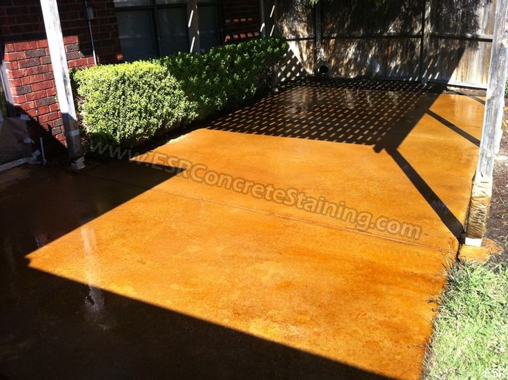 Acid Etching Concrete Stain | Acid Stained Concrete Patio Services.