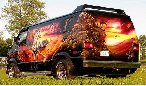 Old 70's style custom vans....eh, anything van related.....