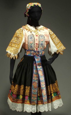 Authentic Slovak folk costume from Podolie / Krakovany region