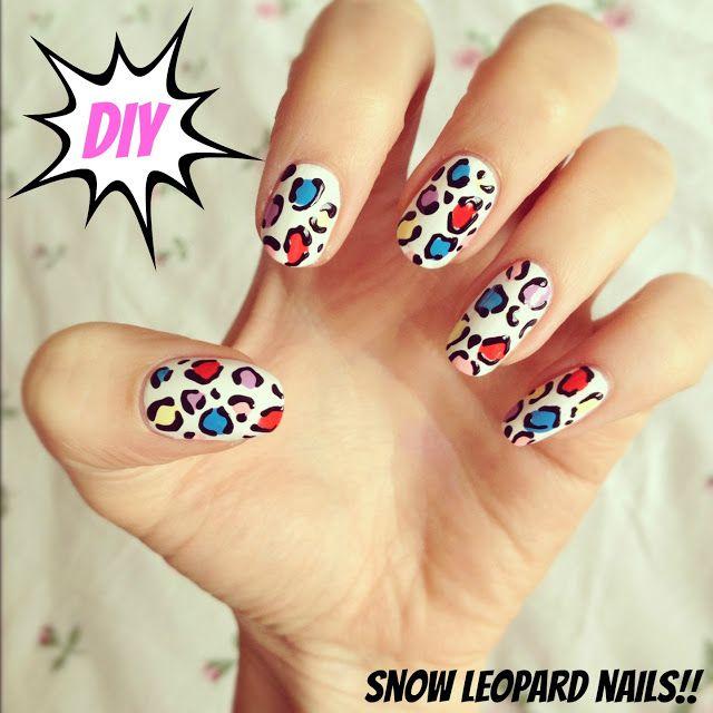 burkatron | UK fashion & nail art blog: DIY snow leopard nail art!