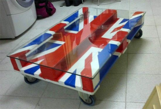 Tavolo pallet bandiera UK