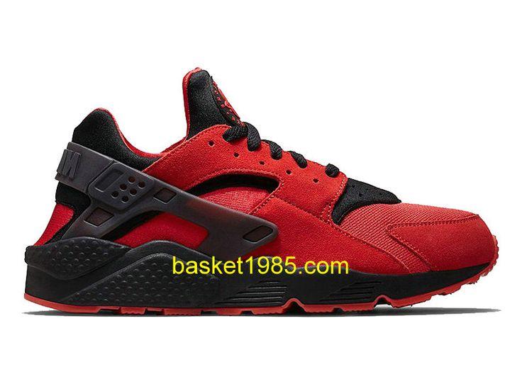 Nike Air Huarache-Chaussures De Running Pas Cher Pour Homme Rouge Noir  700878-600