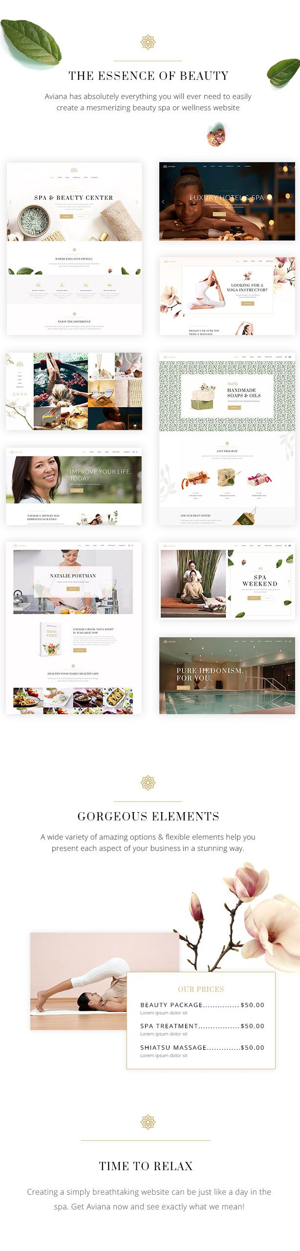 Aviana - An Elegant Lifestyle and Wellness Theme #beauty #blog #center • Available here ➝ https://themeforest.net/item/aviana-an-elegant-lifestyle-and-wellness-theme/20872284?ref=pxcr