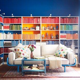 Arrange books in colour order!