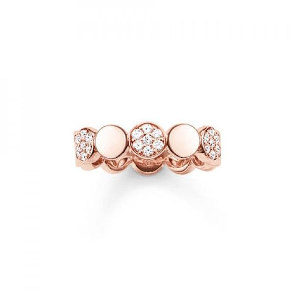 Thomas Sabo Rose Gold Sparkling Circles Ring