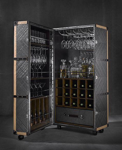 leather cocktail bar cabinet taylor llorente furniture