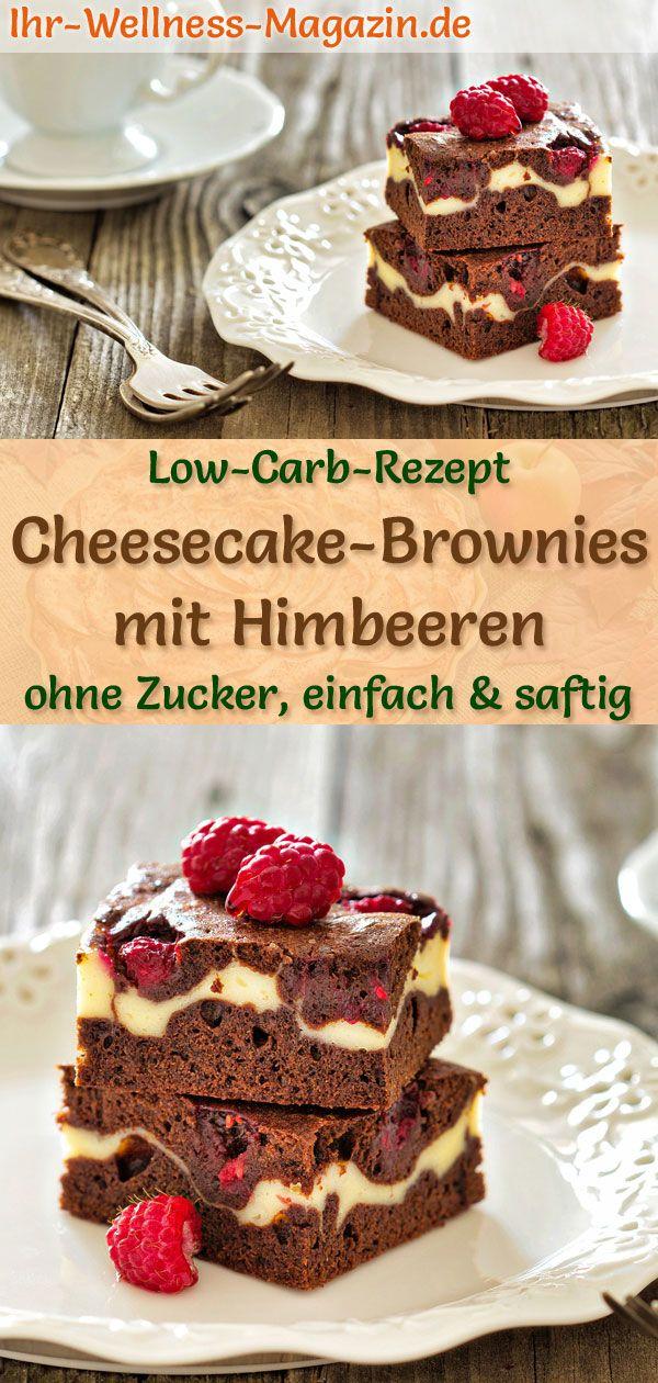 Leckere Cheesecake-Brownies mit Himbeeren: Einfaches Low-Carb-Rezept für saftig…