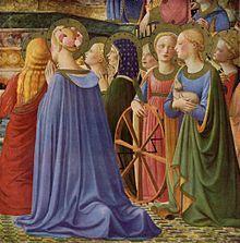 BEATO ANGELICO - Incoronazione della Vergine, dettaglio - tempera su tavola - 1434-1435 - Musèe du Louvre