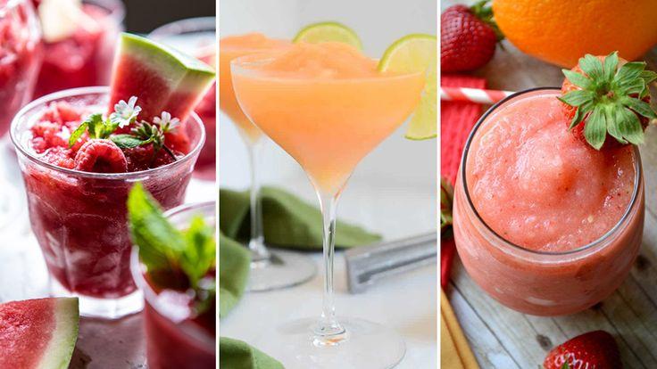 Under varma sommardagar svalkar vi oss gärna med den klassiska sangrians kusin – frozen sangria!