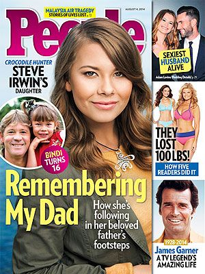 ON NEWSSTANDS 7/25/14: Steve Irwin's daughter opens up about her loss. Plus: Inside Adam Levine's wedding and more.