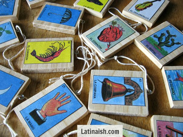 Do-it-yourself lotería (Mexican bingo) themed ornaments to hang on your tree! Step-by-step instructions to make your own. #LowesCreative @Lowe's