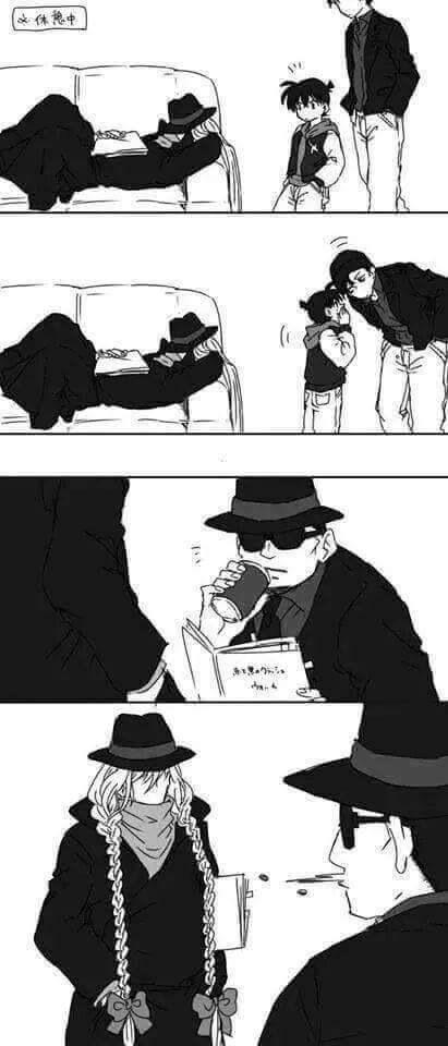 Conan Akai-san and Gin
