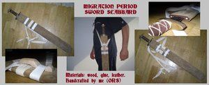 Migration Period sword scabbard by enrico-ors-91