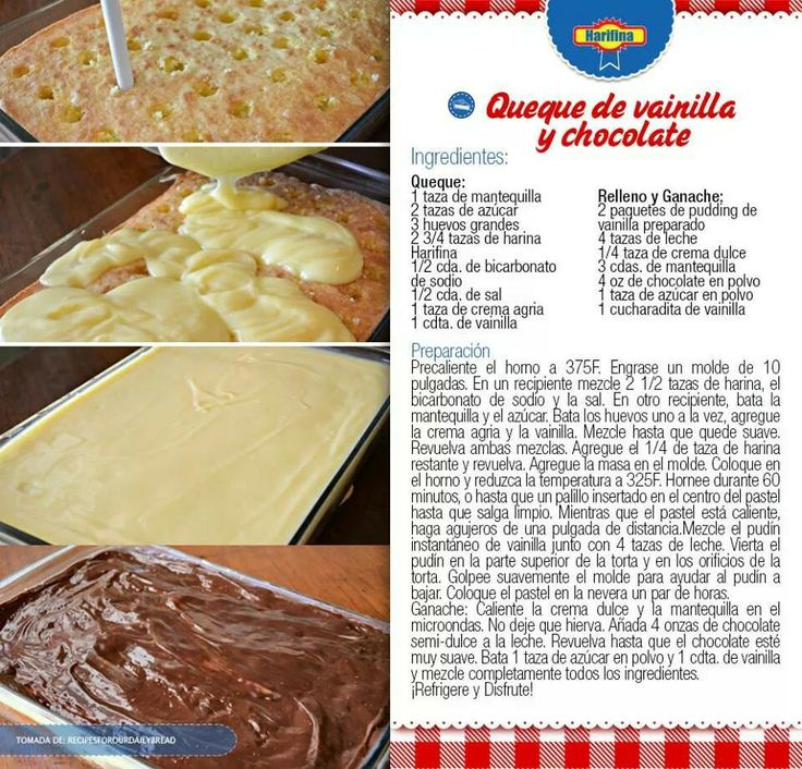 Queque de vainilla y chocolate