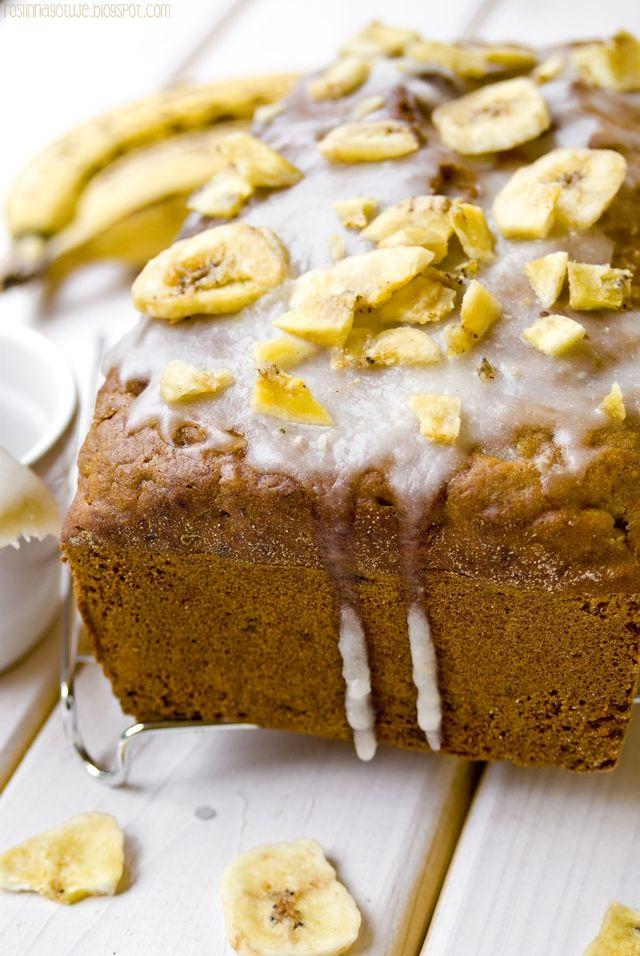 Roślinna : Wegańskie ciasto bananowe