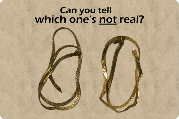how to tell if jewelry is real gold one of these jewelry pieces is real gold one is a 5189