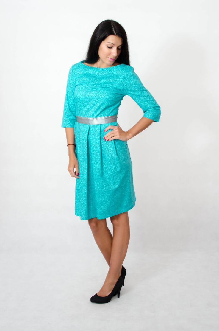 Women dress with sleeves.  More here => www.kadunda.cz