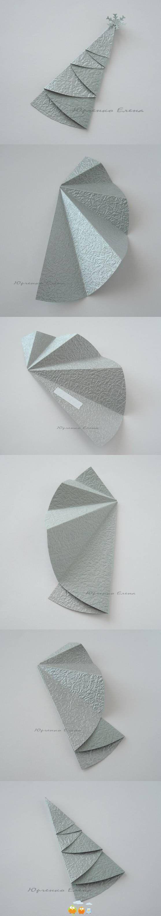 Origami Christmas tree: