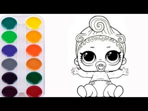 Как нарисовать КУКЛУ ЛОЛ мультик раскраска КУКЛА ЛОЛ для ...