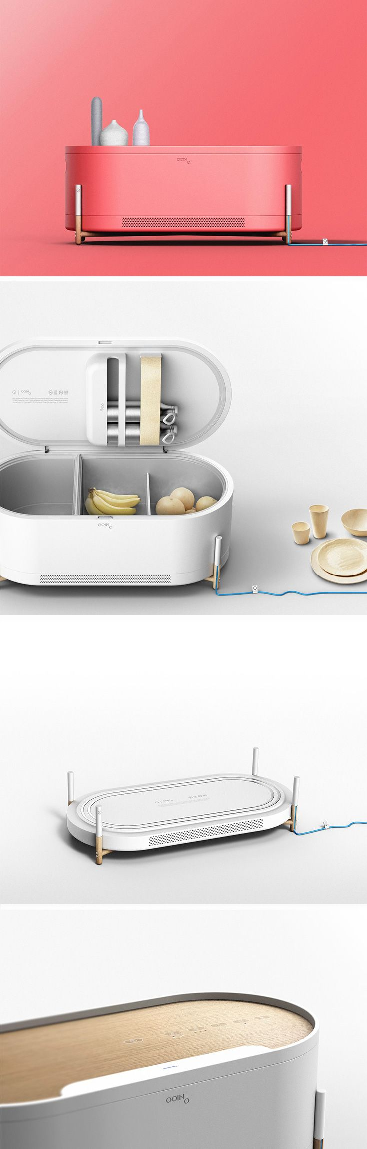 As opposed to most fridges today the Ooino has a horizontal layout.