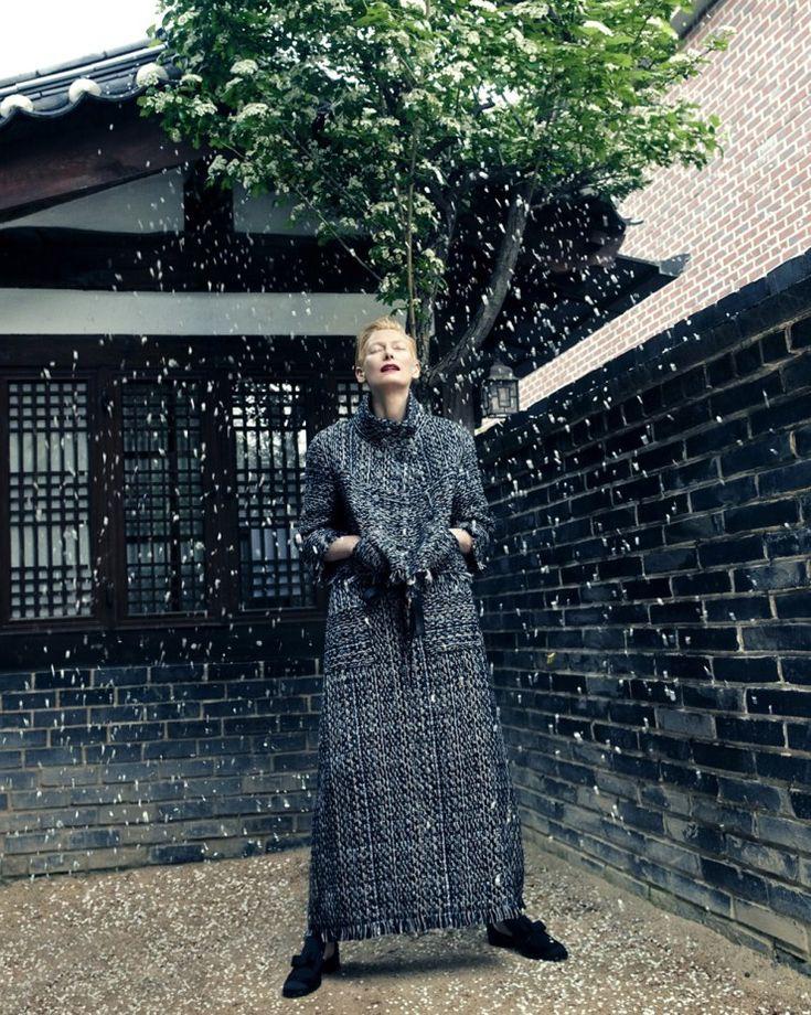 Publication: Vogue Korea August 2015 Model: Tilda Swinton Photographer: Hong Jang Hyun
