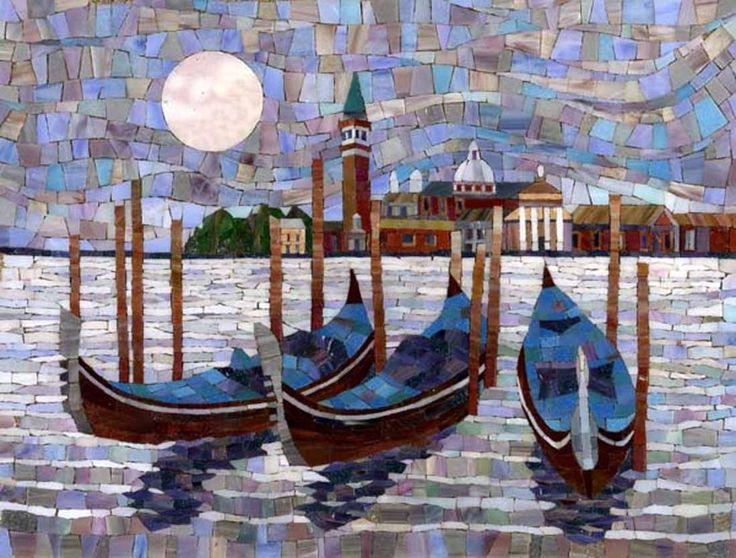 Мозаичная картина Гондолы