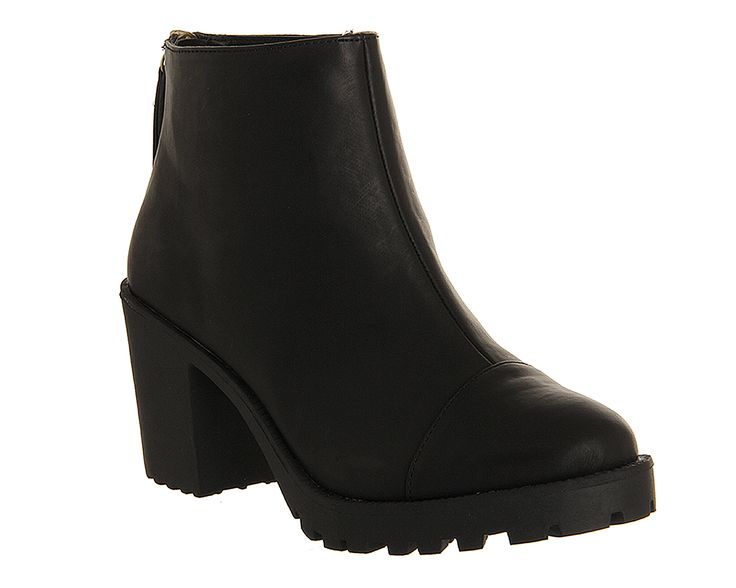 Office Connie Back Zip Boot Black - Ankle Boots