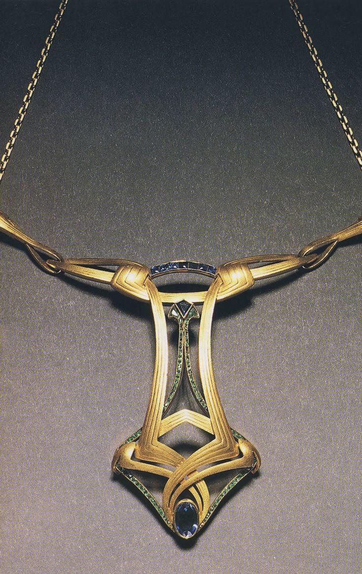 Necklace, Henry Van de Velde, c. In 1900 Art Noveau