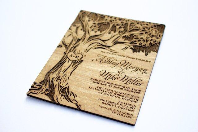 30 Brilliant Photo Of Wood Wedding Invitations Regiosfera Com Wood Wedding Invitations Wooden Wedding Invitations Real Wood Wedding Invitations