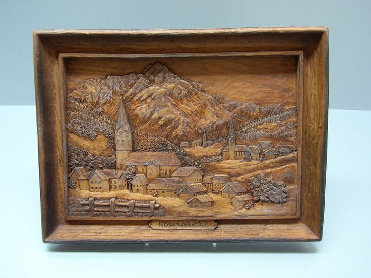 Relief Wandbild Kleinwalsertal aus Kunstmasse