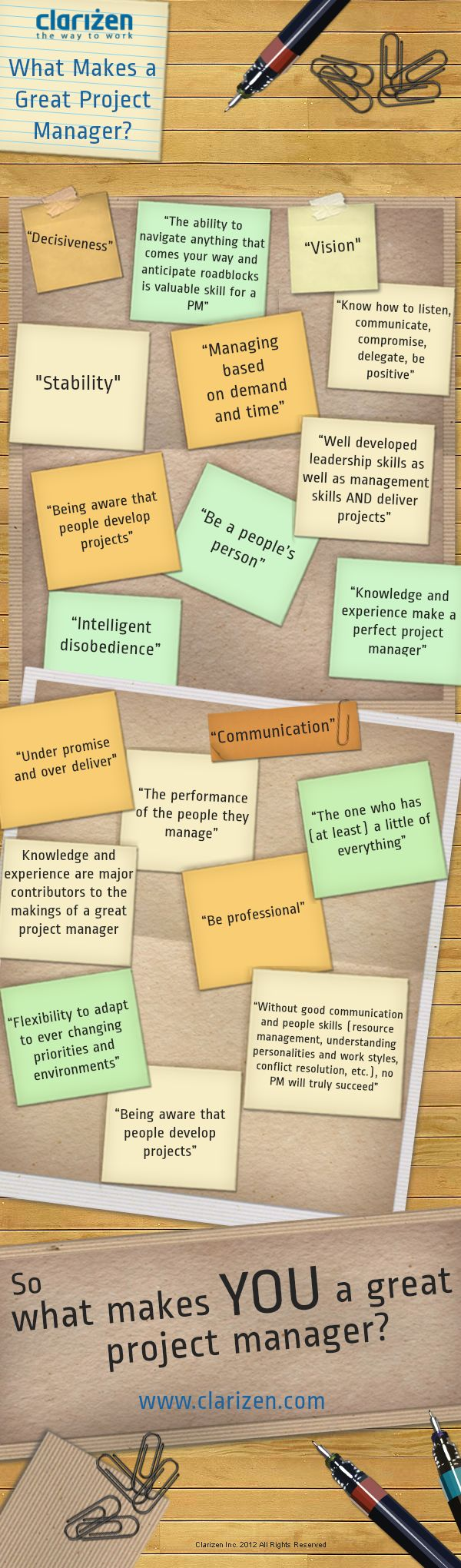 What Makes a Great Project Manager?  Follow JAMSO also on Twitter @jamsovaluesmart and find out news and updates on goal setting and KPI's on http://www.jamsovaluesmarter.com