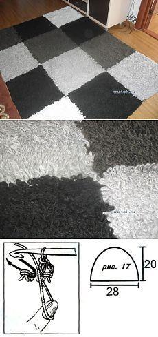 Вязаный крючком ковер — работа Марины - вязание крючком на kru4ok.ru