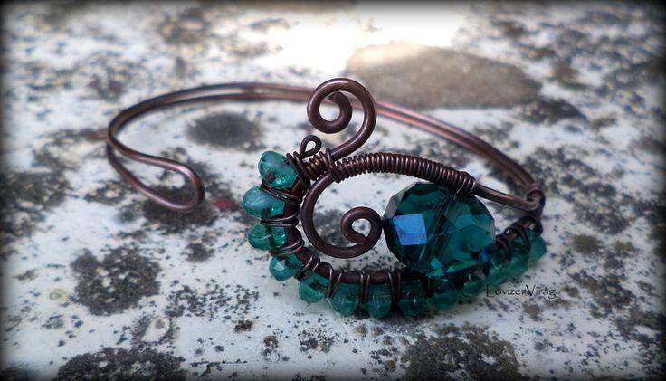 Wire bracelet with Swarovsky by ZerVir
