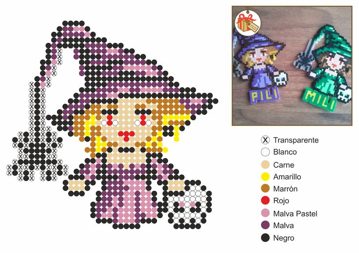 Patrones Hama Beads de Halloween | Aprender manualidades es facilisimo.com