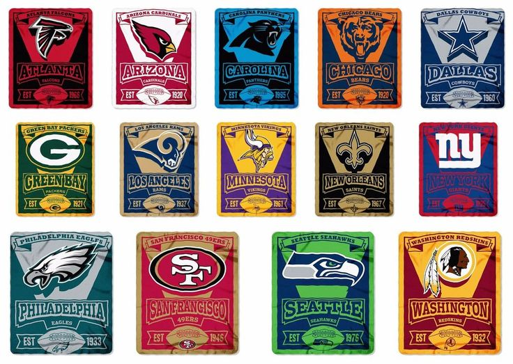 NFL Blanket NFC Football Team Choice Fleece Marquee Design Free Shipping	 #Northwest