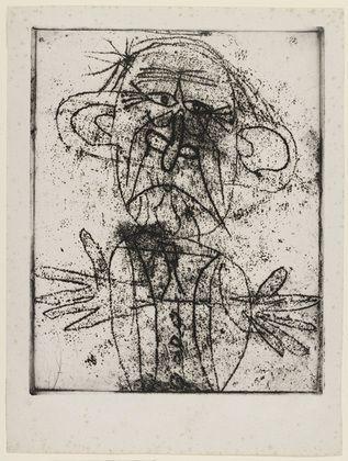 "Jean Dubuffet. Paul Léautaud. (1946) Medium: Etching and aquatint Dimensions:plate 11 3/4 x 9 3/8"" (29.9 x 23.8 cm) sheet 14 3/16 x 10 3/4"" (36 x 27.3 cm)"