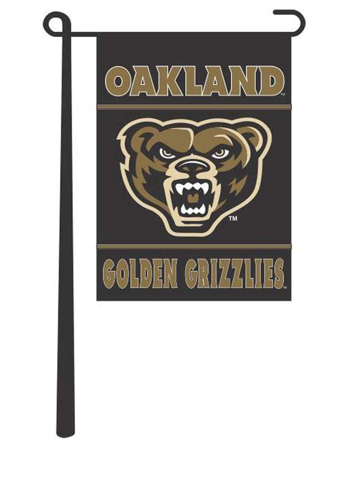 Oakland University Golden Grizzlies 13x18 Garden Flag