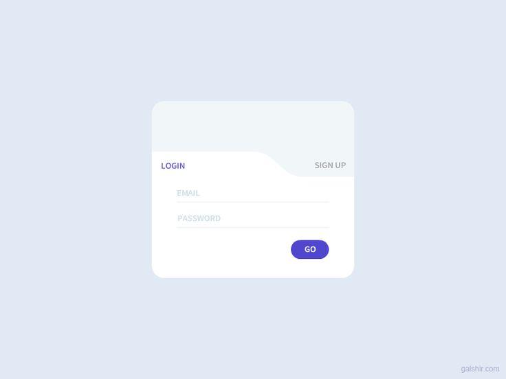 Login & Signup Interface