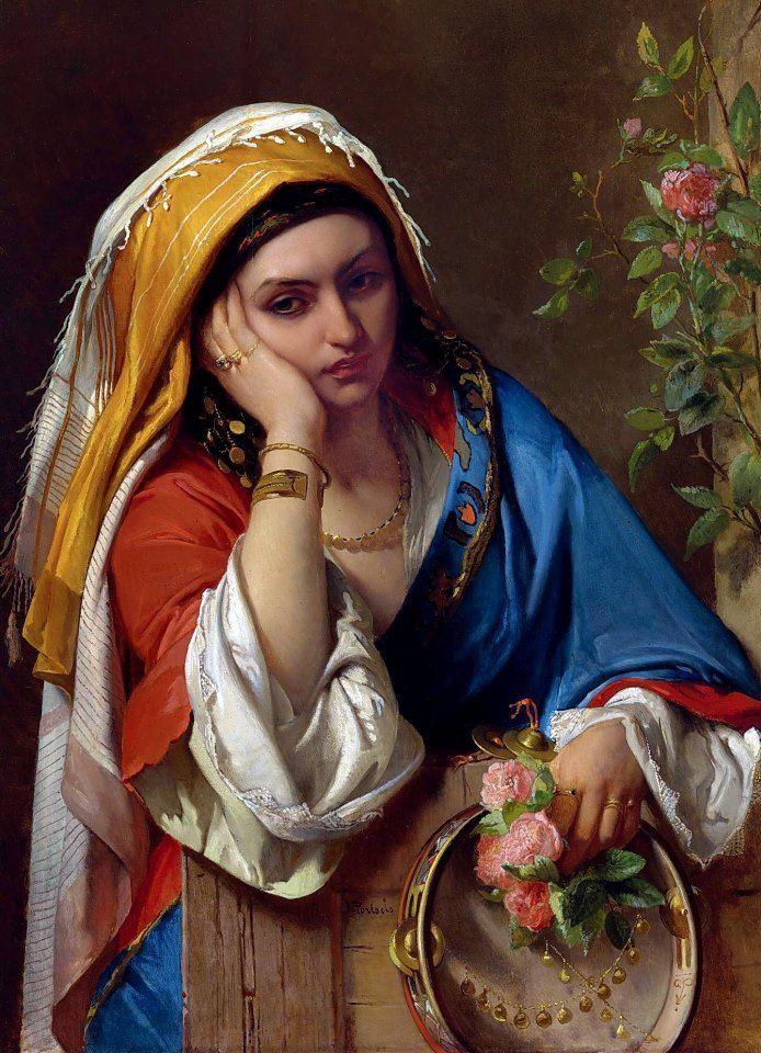 Jean Francois Portaels - The Gypsy Dancer
