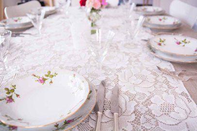 romantiske roser #borddekking #vintage #table setting