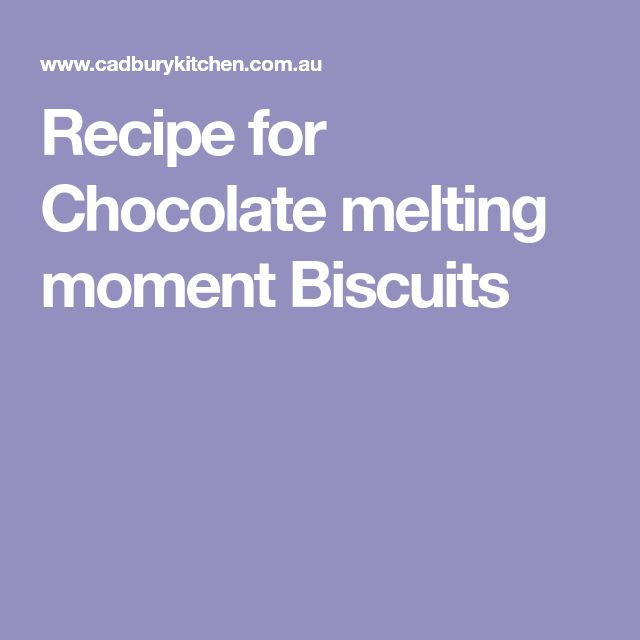 Recipe for Chocolate melting moment Biscuits